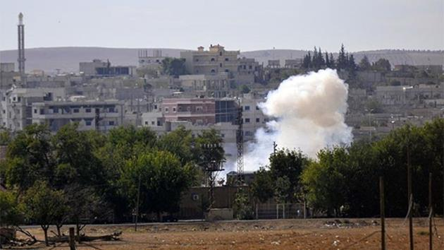 Suriye sınırı-kobani-havan mermi