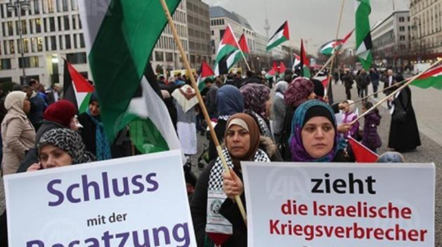 Almanya-israil-protesto