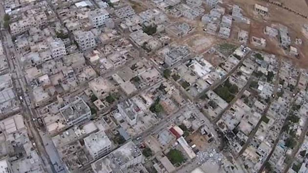 ışid-kobani-intihar-saldırı-havadan-görüntü