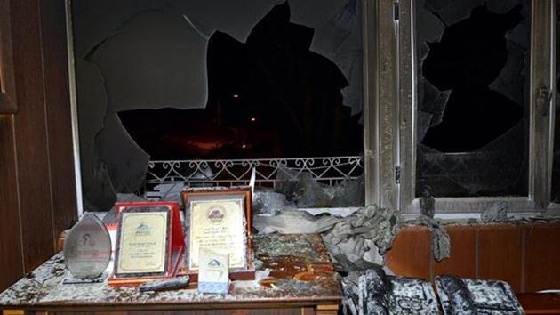 tunceli-Pertek ilçesinde belediye binası-saldırı