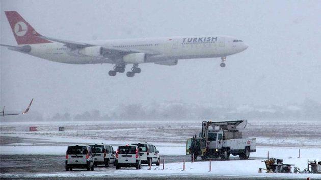 THY-uçak-kar