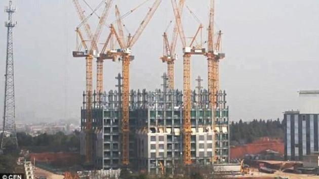 çin-gökdelen-inşaat-bina