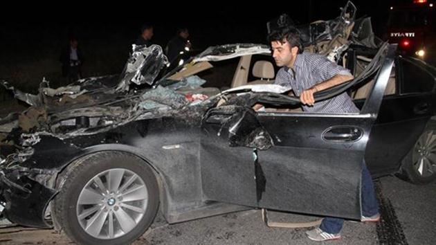 Kaza yapan ağır yaralı sürücünün telefonu çalınca…