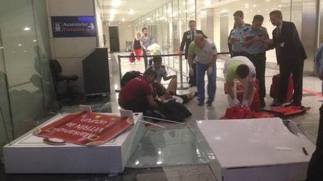 Atatürk Havalimanı'nda talihsiz kaza!