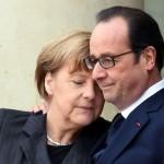 Paris'te 7 Ocak'ta Charlie Hebdo dergisine saldırıyla başlayan ve 3 gün devam eden 3 ayrı terör saldırısında, toplam 17 kişi hayatını kaybetmiş, polis operasyonlarında 3 saldırgan ölü ele geçirilmişti. Saldırılar sonrası Cumhuriyet Yürüyüşü'nde biraraya gelen Fransa Cumhurbaşkanı Hollande, Almanya Başbakanı Merkel'le birlikte görülüyor. Fotoğrafçı: DOMINIQUE FAGET Yer: Paris / Fransa Tarih: 11 Ocak 2015