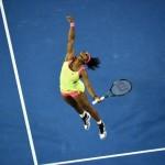 Avustralya Açık Tenis Turnuvası Kadınlar Finali'nde ABD'li tenisçi Serena Williams, Rus rakibi Maria Sharapova'yı yendikten sonra zaferini böyle kutluyor. Serena bu zaferle Avustralya Açık'ta altıncı, toplamda ise 19. Grand Slam zaferine ulaşmış oldu. Fotoğrafçı: WILLIAM WEST Yer: Melbourne / Avustralya Tarih: 31 Ocak 2015