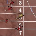 Dünyanın en hızlı adamı ünvanını elinde bulunduran Jamaikalı atlet Usain Bolt 2015 IAAF Dünya Şampiyonası'nda 100 metre erkekler finalini 9,79 saniyeyle kazanıyor. Fotoğrafçı: ANTONIN THUILLIER Yer: Pekin / Çin Tarih: 23 Ağustos 2015