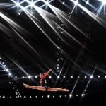 Japon sporcu Aiko Sugihara 2015 Dünya Jimnastik Şampiyonası'nda yarışıyor. Fotoğrafçı: BEN STANSALL Yer: Glasgow / İskoçya Tarih: 23 Ekim 2015