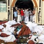 Suudi Arabistan'ın Mekke kentinin 5 kilometre dışında bulunan Mina'da çıkan izdihamda, en az 753 kişi öldü, 887 kişi yaralandı. Birbiri üzerine yığılan ölü bedenler görülüyor. Yer: Mekke / Suudi Arabistan Tarih: 23 Ekim 2015