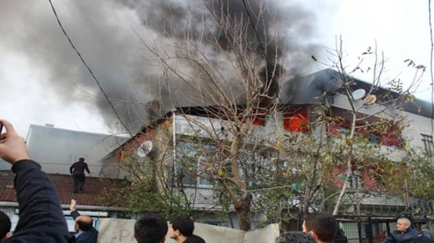 Başakşehir Güvercintepe'de yangın çıktı