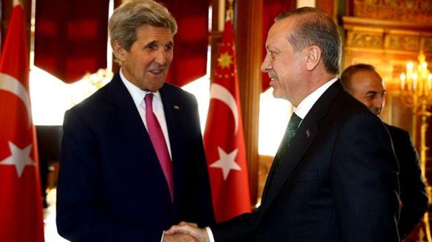 Cumhurbaşkanı Erdoğan, Kerry ile görüştü