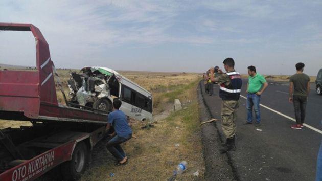 Diyarbakır-Urfa yolunda kaza