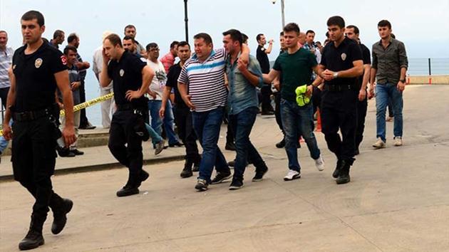 Trabzon'da 2 şehit, 5 polis ve 1 sivil yaralı