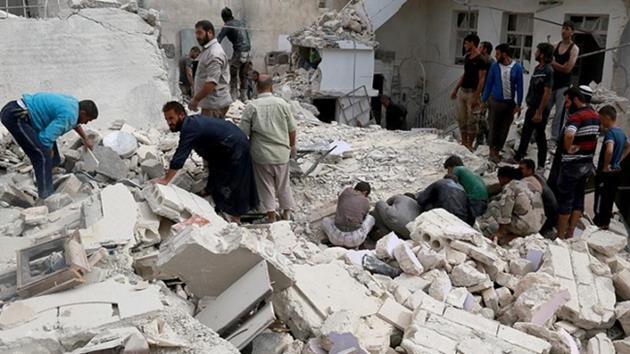 Yerleşim yerlerine hava saldırısı: 56 ölü!