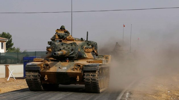 fırat kalkanı harekatı-türk asker-tank