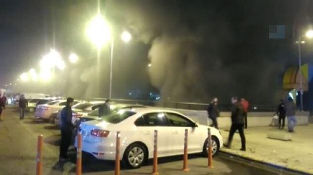 İstanbul 15 Temmuz Demokrasi Otogarı'nda yangın