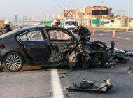 Başakşehir'de feci trafik kazası!