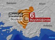 Denizli'de şiddetli art arda iki deprem!